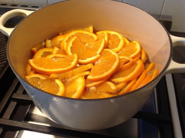 Orange Half-moons in Sugar Syrup
