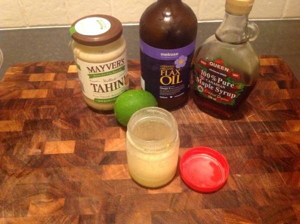 Tahini Lime Salad Dressing