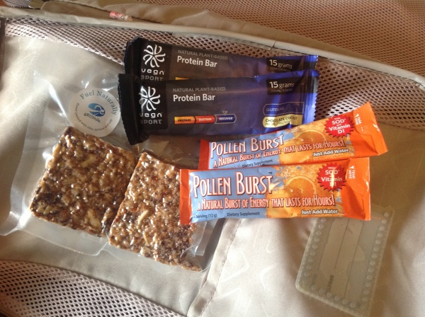 My staple vegan travel sustenance is about protein, handy snacks and energy boosters.