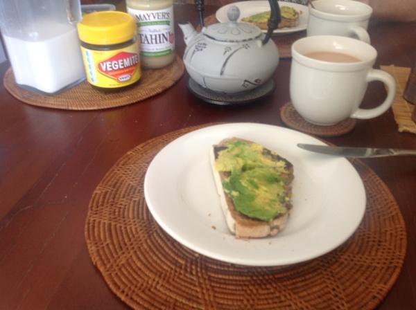 Tahini, Vegemite & Avocado on Sourdough