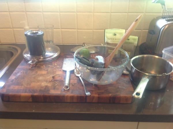 Messy Falafel-Making