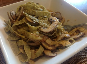 Mung Bean Pasta With Mushrooms