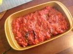 Layer 4 - tomato sauce