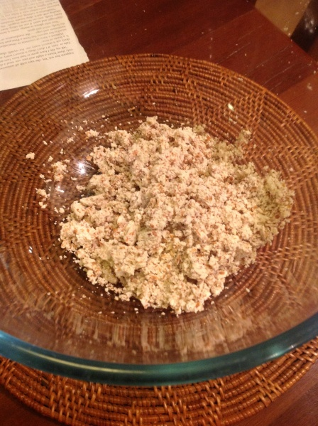 Almond meal left over from homemade almond milk