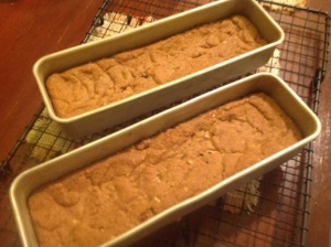 Blondies fresh from the oven, after 25mins baking.