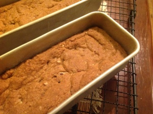 Leave the blondies to cool a bit before turning out