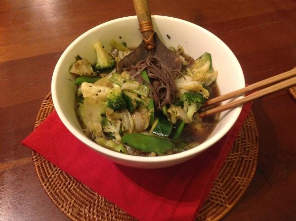 Almost Moyashi Soba Noodle Soup