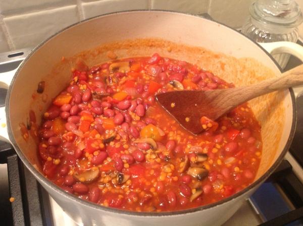 Un-Chilli Adding Beans