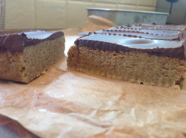 Raw Blondies Sliced Close-up