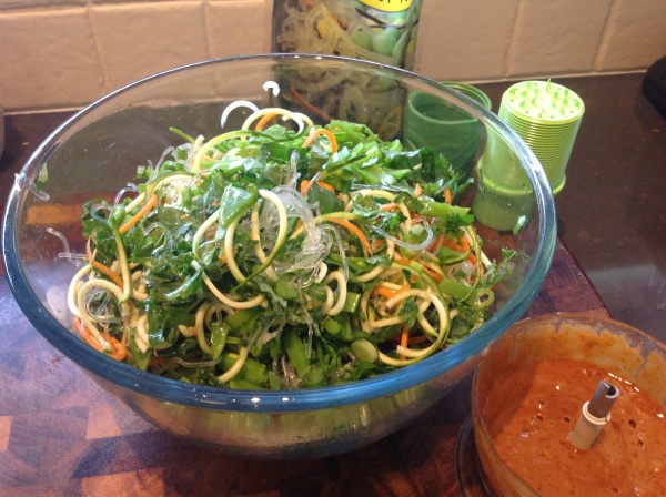 Raw Pad Thai vegetables
